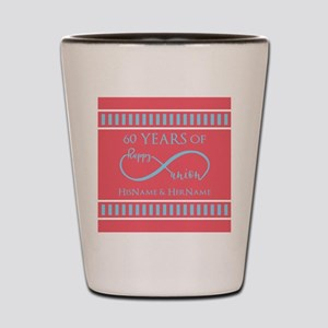 Personalized 60th Anniversary Infinity Shot Glass